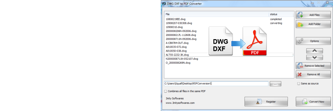 DWG DXF to PDF Converter