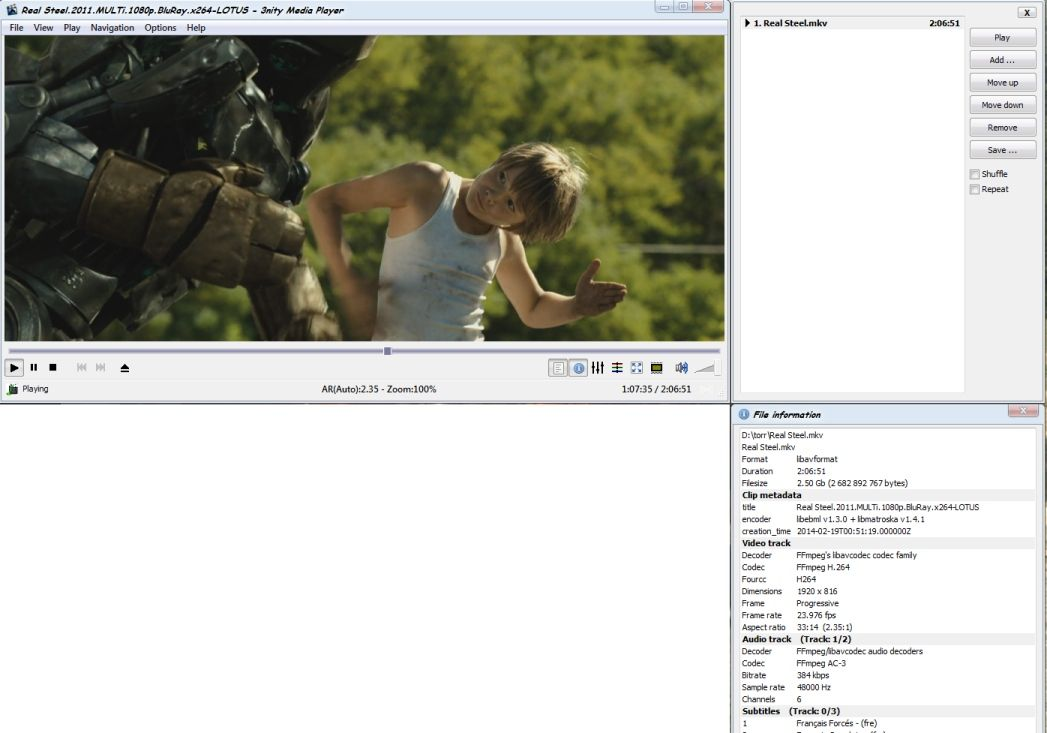 3nity Media Player screenshot