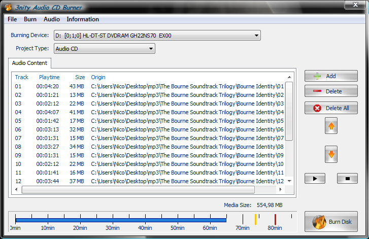 free cd burning software with cd text